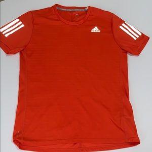 Adidas Men's Short Sleeve Athletic Shirt, Orange